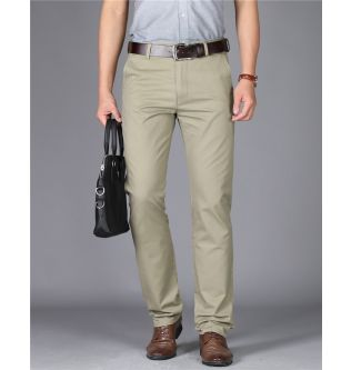 MRMT 2020 Brand New Mens High-waisted Trousers Pure Color Men's Pants for Male Cotton Thin Pant Man Straight Trouser