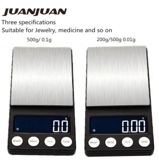 500g/0.01g Mini Digital Scale Pocket Jewelry Weight LCD Display Electronic Grams Stainless Steel Weight Tool