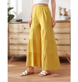 SHEIN Women Summer Yellow Pant S,M,L