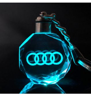 Crystal Car Crafts With Changing Colors LED Oodi- 190601090