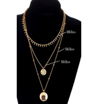 Charms Gold Color Chain Chockers Necklace