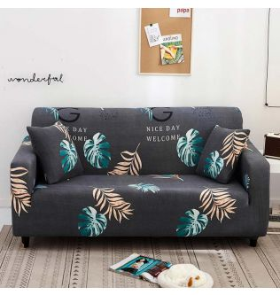 Free Gift 1pcs Pillowcase Stretch Slipcovers Sectional Elastic Universal Spandex Gray Sofa Cover Couch Armchair 1/2/3 Seater
