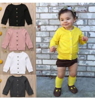 Autumn Baby Girls Kids Knitted Sweater Clothes Casual  Cardigan Colorful Top Shirt Outfit 0-24M Spring Costume