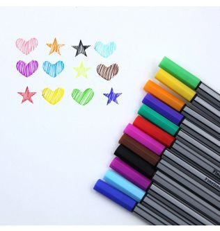 12 Colors Micron Liner Marker Pens 0.38mm Fineliner Color Pen Water Based Assorted Ink For Painting School Office Art Supplies