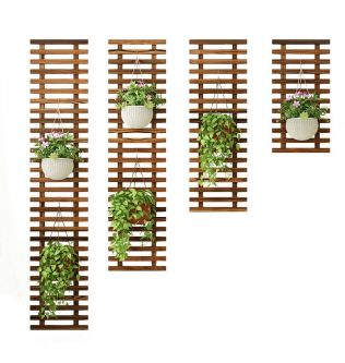 Solid Wood Wall Flower Stand European Balcony Living Room Wall Hanging Wall Plant Stand Hanging Green Wall Hanging Orchid Flower