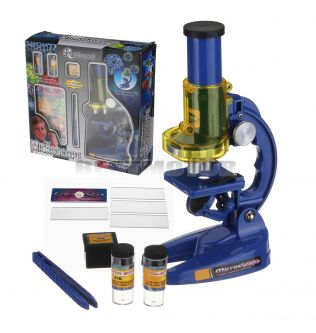 Microscope Kit Lab LED 300X 600X 1200X Home School Science Educational Toy Gift Imitation Biological Microscope For Children