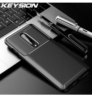 KEYSION Phone Case for Oneplus 8 8 Pro Carbon Fiber Texture Soft Silicone Shockproof back Cover For Oneplus 7T Pro 1+ 7 Pro 6 6T