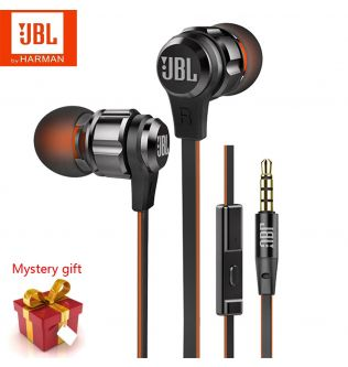New JBL Original T180A In-Ear Wired Headphones 3.5mm Stereo Pure Bass Sound Earphones Gaming Headset Sports Headphones