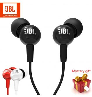 New Original JBL C100Si 3.5mm Wired In-ear Headphones Stereo Deep Bass Music Headset Sports Running Earbuds With MIC