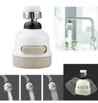 360° Swivel Faucet Tap Aerator Diffuser Nozzle Faucet Splash-Proof Filter 3 Gear Faucet Sprayer Head