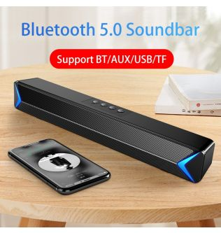 2020 TV Sound Bar AUX USB Wired and Wireless Bluetooth Home Theater FM Radio Surround Sound Bar PC Speaker Computer Soundbar