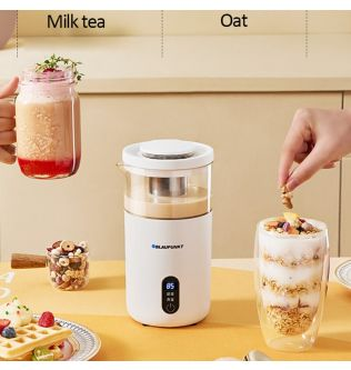 220V Electric Coffee Maker Portable Milk Tea Oat Machine Mini Automatic Tea Maker Breakfast Machine with Temperature Show 600ml