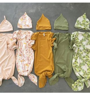 Cute Floral/Solid Baby Sleeping Bag Newborn Wrap Swaddle Blanket+Headband Sets Baby Boy Girl Soft Cotton Sleeping Bags 0-6Months