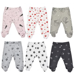 Baby Trousers 0-18 Month Cotton Cute Printed Spring Autumn Unisex Casual Footed Baby Boys Pant Infant Girl Pants Newborn Trouser