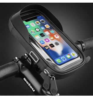 Waterproof Bike Bicycle Phone Mount Bag Case Motorcycle Handlebar Phone Holder Stand for 4.5-6.4 Inch Mobile Cell Phones