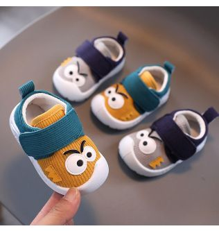 Infant First Walkers Shoes With Funny Big Eyes Pattern 2020 Fashion Baby Boy Causal Loafers and Toddler Girl Non-slip Shoe