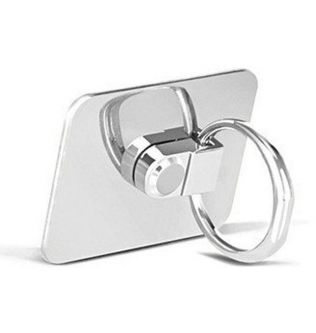 Finger Ring Grip Holder and Stand for Mobile Phones and Tablets , Silver