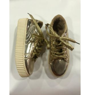 Gold School Shoes