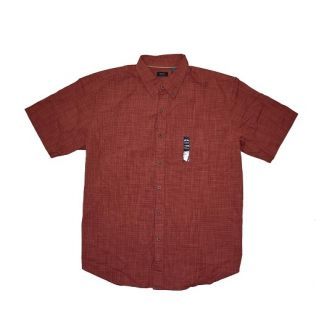 Men Big Size Shirt - burgundy