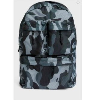 DEFACTO Army Print Middle Zip Backpack