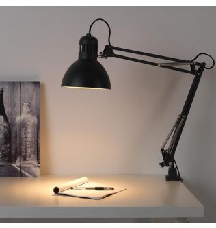 TERTIAL Work lamp with LED bulb, light green