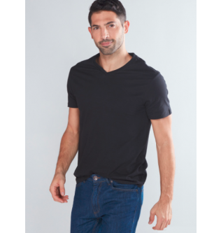 MAX Short Sleeves T-Shirt with V-Neck