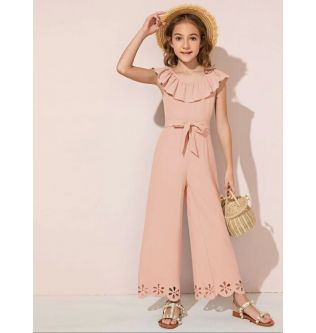SHEIN Pink Girls Jumpsuit