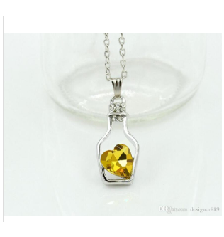 Bottled Heart Pendant - Yellow - 191101038