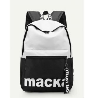 SHEIN Black & White Backpack