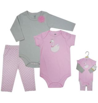 Luvable Friends Multi Color Baby Clothing Set For Girls