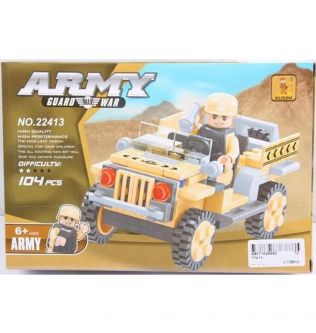 Ausini Army Guard Max War Army Jeep Car Construction Toy For Kids - 200301050
