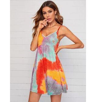 SHEIN Colored Mini Dress