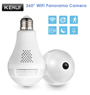 KERUI LED Light 960P Wireless Camera 360 - 180504002