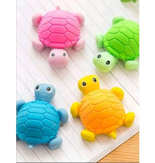 Mini Turtles Set of 2 Easers For Kids Stationery