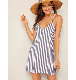 SHEIN Lines Mini Dress