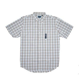 Men Big Size Shirt - Brown Square Print