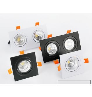 Square Dimmable Recessed LED Downlights 7W 9W 12W COB LED Ceiling Spot Lights AC85~265V LED Background Lamps Indoor Lighting