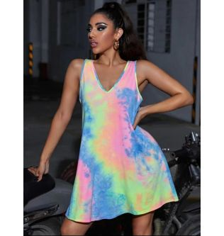 SHEIN Neon Colored Mini Dress