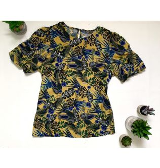 Colorful Jungle Style Casual Top for Women