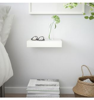 IKEA LACK Wall shelf, white 30x26 cm