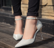 High heels Women Silver Shoes